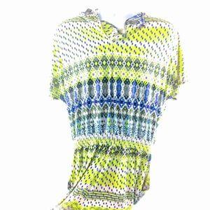 green, blue, and black robert louis textile ONZIE